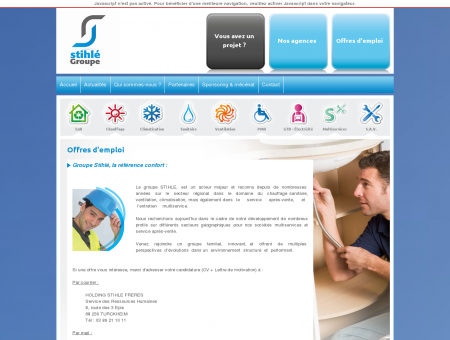 Offres d'emploi - Groupe Stihlé