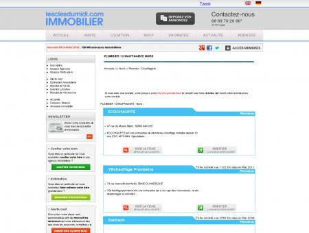 PLOMBIER / CHAUFFAGISTE Nord annuaire...