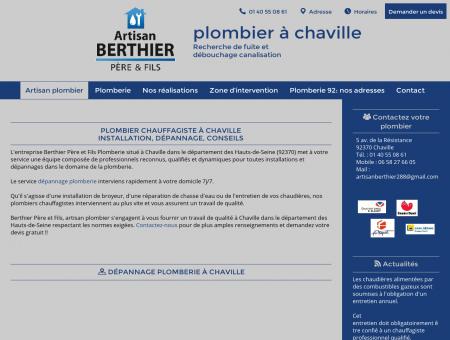 Plombier Berthier Chaville : dépannage...