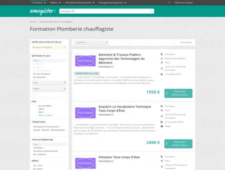 Formation Plomberie chauffagiste | Emagister