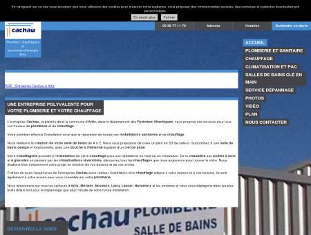 Plombiers chauffagiste - Cachau et Fils à Artix,...