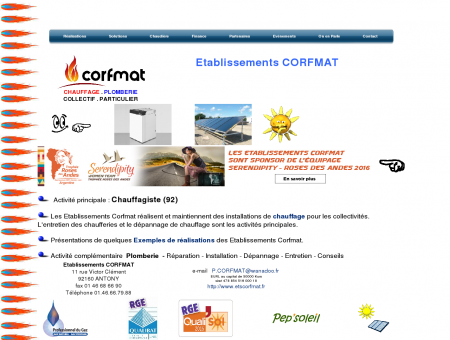 Chauffagiste 92 : Etablissements Corfmat de...