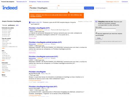 Emploi Plombier Chauffagiste - Travail | Indeed.fr