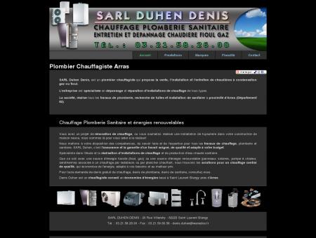 SARL DUHEN / Plombier Arras, chauffagiste...