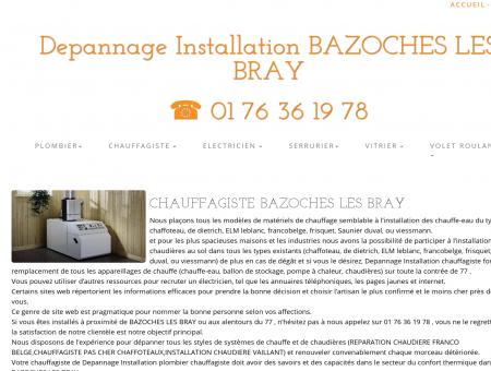 Chauffagiste BAZOCHES LES BRAY | 01 76 36...