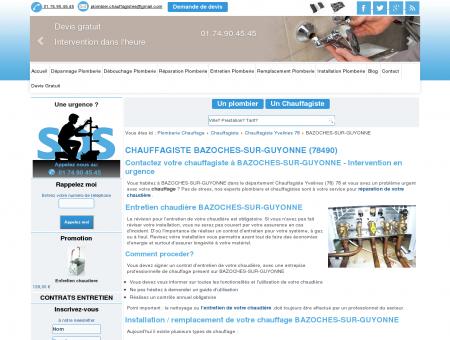 Chauffagiste Bazoches sur Guyonne 78490 :...