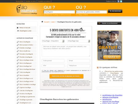 Chauffagiste Bazoches-les-gallerandes 45480