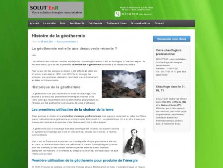Histoire de la géothermie : invention de la...