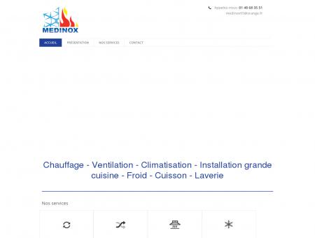 Medinox cuisiniste, chauffagiste   Accueil