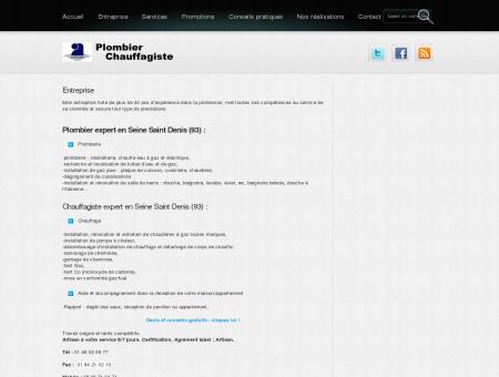 Plombier - Chauffagiste - 93140 Bondy -...