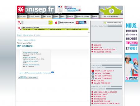 BP Coiffure - Accueil - Onisep