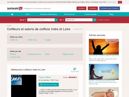 Coiffeurs et salons de coiffure Indre et Loire