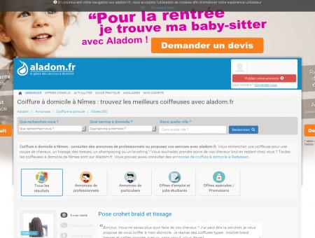 COIFFURE À DOMICILE NÎMES (30) - ALADOM,...