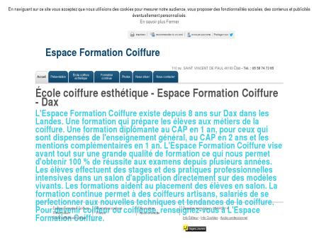 École coiffure esthétique - Espace Formation...