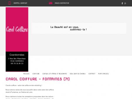 Coiffure, conseil en image - Fontaines | Carol...