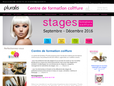 Ecole de coiffure - Apprentissage du métier...