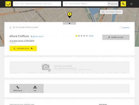Allure Coiffure Dijon (adresse, horaires, avis)