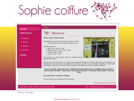 Salon Sophie coiffure - Accueil
