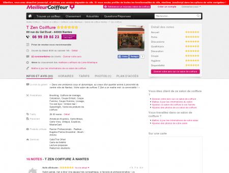 T Zen Coiffure Nantes - Avis, Tarifs, Horaires,...