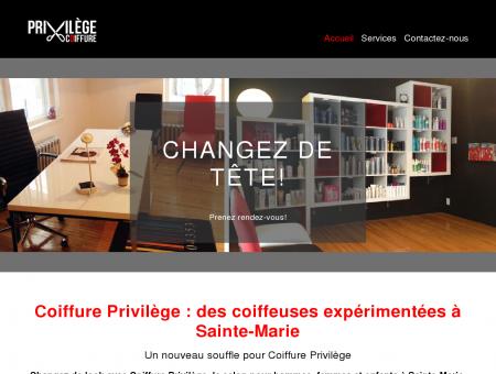Coiffure Privilège | Coiffeur et salon | Sainte...