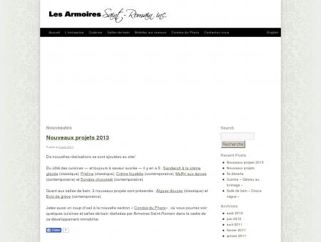 Nouveautés | Les Armoires Saint-Romain inc.