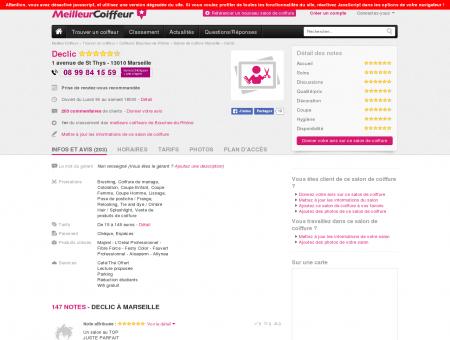 Salon de coiffure Declic Marseille - Guide des...