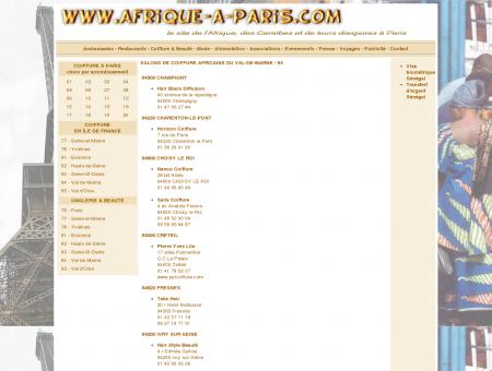 SALONS DE COIFFURE AFRICAINS DU VAL-DE...