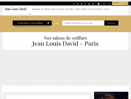 Coiffeurs Paris - Jean Louis David salon de...