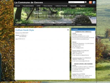 Coiffure Sarah Style - La Commune de Gesves