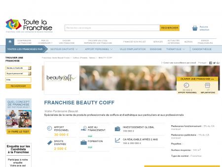 Franchise Beauty coiff dans Franchise Coiffure...