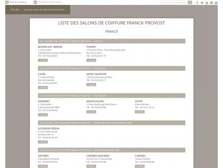 Liste des salons de coiffure Franck Provost -...