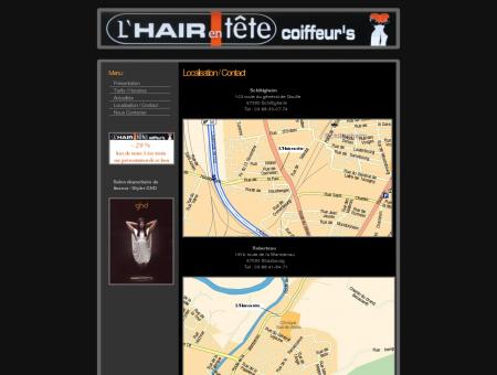 L'Hair en Tête coiffeur coiffure homme femme...