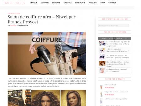 Salon de coiffure afro - Niwel par Franck...