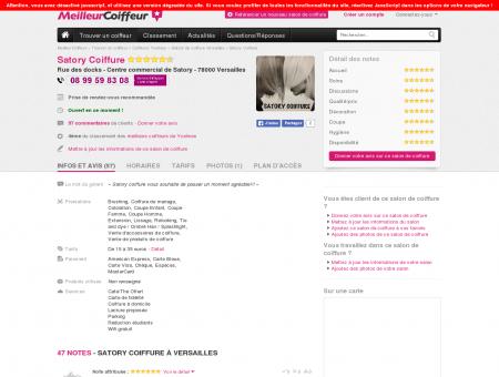 Satory Coiffure Versailles - Avis, Tarifs, Horaires ...