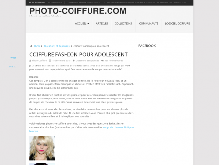 coiffure fashion pour adolescent  Photo...