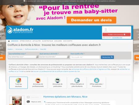 COIFFURE À DOMICILE NICE (06) - ALADOM,...