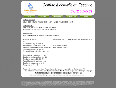 tarifs coiffure a domicile 91 essonne brushing...