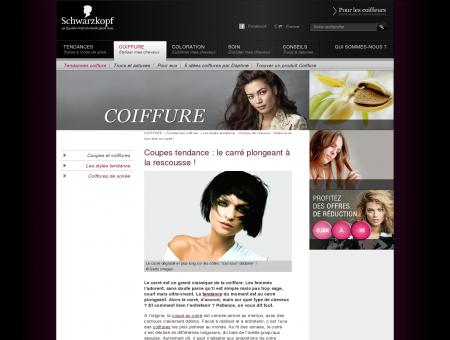 Coupe au carré : coiffure tendance Schwarzkopf