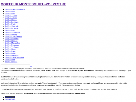 Quel coiffeur Montesquieu-Volvestre : les...