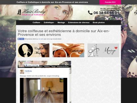 Coiffure et esthétique à domicile Aix en Provence