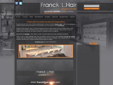 Salon de coiffure Franck L.Hair - homme -...