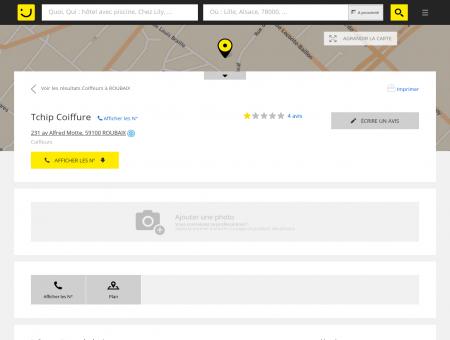 Tchip Coiffure Roubaix (adresse, horaires, avis)