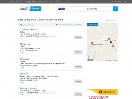 Coiffure à Oron-la-Ville - 5 Résultats sur local.ch