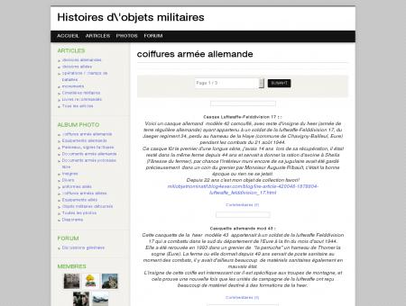 coiffures armée allemande - Histoires d'objets...