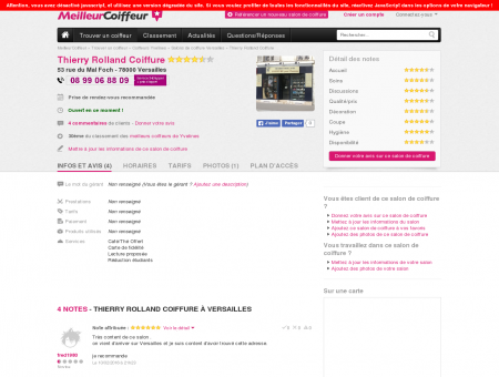 Thierry Rolland Coiffure Versailles - Avis, Tarifs ...
