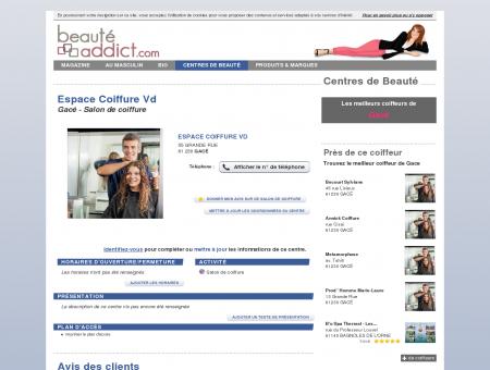 Espace Coiffure Vd - Gacé (61230) : Salon de...