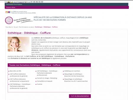 Esthétique - Diététique - Coiffure - CNFDI