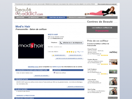 Mod's Hair - Franconville (95130) : Salon de...