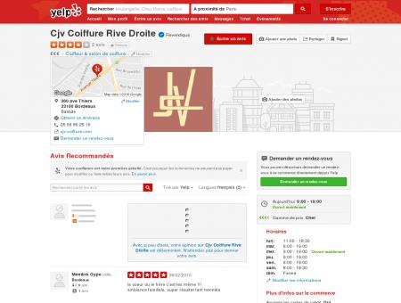Cjv Coiffure Rive Droite - Coiffeur & salon de...