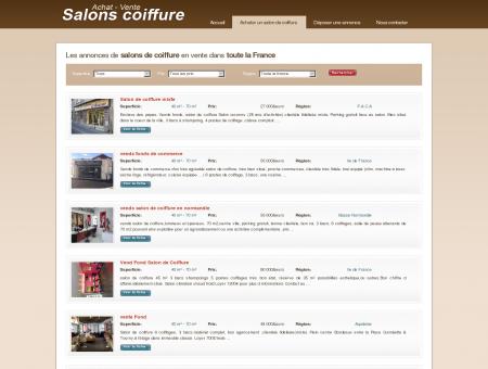 Les annonces de salons de coiffure en vente...